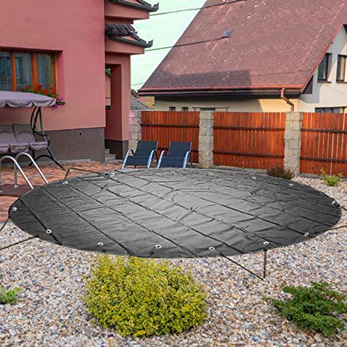 VEVOR Pool Abdeckplane Kreisförmig Durchmesser 4 m Schwimmbadabdeckung, PVC Poolabdeckung, Schwarz...