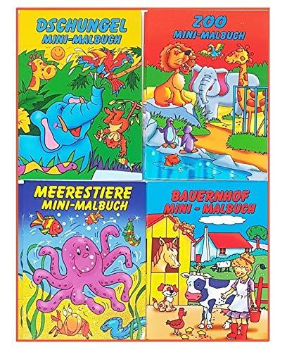 Libetui Set 10 Malbücher für Kinder Mini Malbuch Größe b6 17,6 x 12,5 cm Kinderbeschäftigung Zuhause...