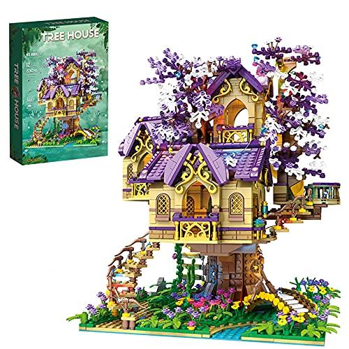 Dr.Bricks Elf Baumhaus mit Licht, Tree House Bauset Kompatibel mit Lego 21318 Baumhaus - 2242 Teilen