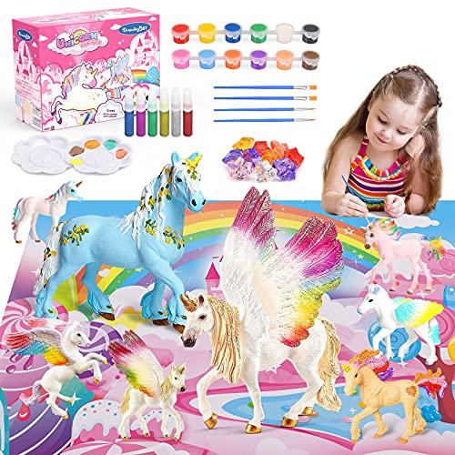 Toy zee Geschenk Mädchen 3 4 5 6 7 8 Jahre, Bastelset Kinder Einhorn Geschenke für Mädchen Spielzeug...
