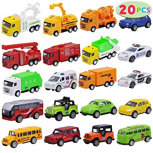 JOYIN 20 Stück Metall Zurückziehen Mini Spielzeugautos, Mini Die Cast Spielzeugautos Set, Pull Back...
