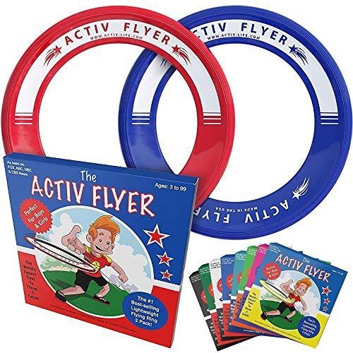 Activ Life Best Kids Wurfringe, Frisbee [Rot / Blau] Top Geburtstagsgeschenke - Cooles Spielzeug...