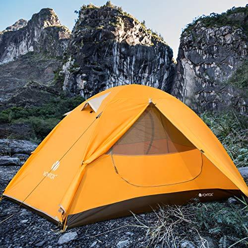 V VONTOX Camping Zelt, 1-3 Personen Wasserdichtes Ultraleichte Kuppelzelt, mit Aluminum Zeltstange 3-4...