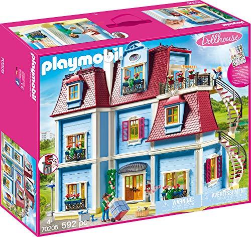 PLAYMOBIL Dollhouse 70205 Mein Großes Puppenhaus, Mit funktionsfähiger Türklingel, Ab 4 Jahren