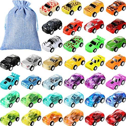 36 Stücke Aufziehauto Zurückziehen Autos Mini Rennwagen Mini Push-Pull Spielzeug mit 1...
