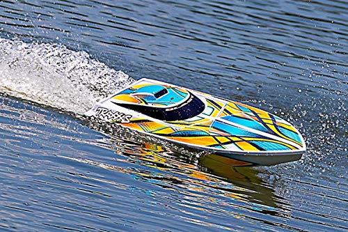 Traxxas RC Blast Speed Boot + Akku, 12V-Lader weiß/orange