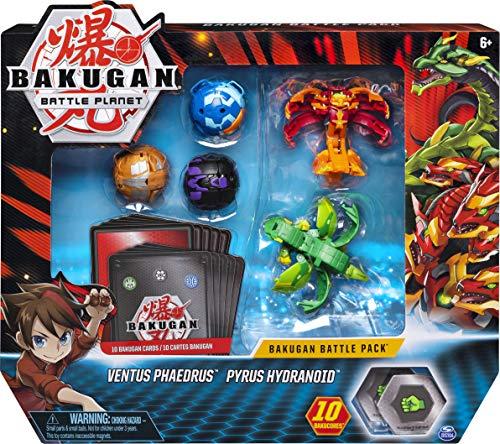 Bakugan Battle Pack mit 5 Bakugan (2 Ultra & 3 Basic Balls), unterschiedliche Varianten