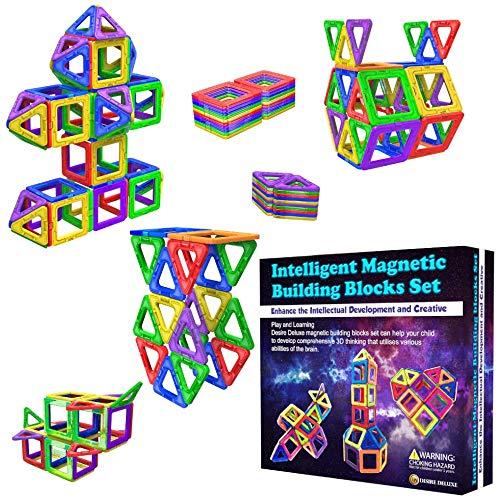 Desire Deluxe Magnetische Bausteine Magnet Montessori Spielzeug für Kinder 40PC Set Teilen ab 3 4 5 6 7...