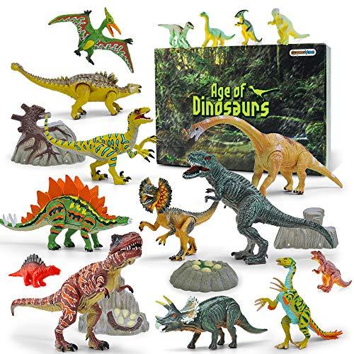 GizmoVine Dinosaurier Spielzeug 20 Stücke 13-23cm Beweglich Dinosaurier Einschließlich Tyrannosaurus...