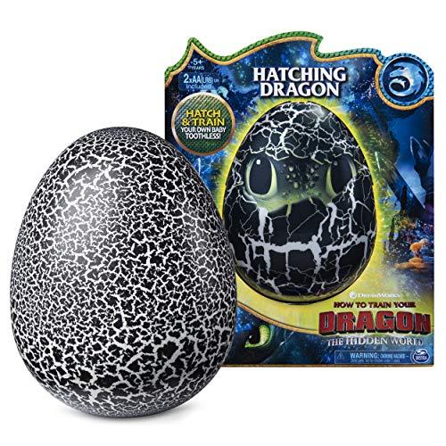 Dragons Ohnezahn Babydrachen Ei, Hatching Dragon, Ohnezahn zum Ausbrüten, Soundeffekte, Kopf - und...