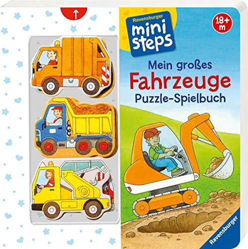 Mein großes Fahrzeuge Puzzle-Spielbuch: Ab 18 Monaten (ministeps Bücher)