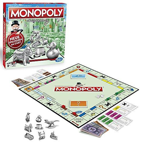 Hasbro Spiele C1009156 Monopoly Classic österreichische Version, Familienspiel
