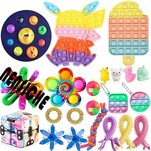Sensorische Fidget Spielzeug-Satz für Kinder oder Erwachsene Fidget Toys Pack Hand Spielzeug Stress...