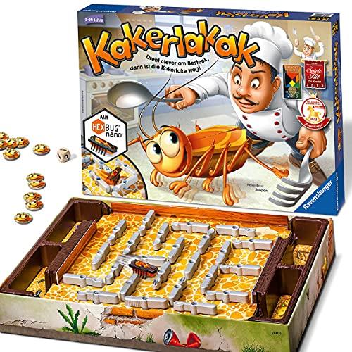 Ravensburger 22212 - Kakerlakak - Kinderspiel mit elektronischer Kakerlake für Groß und Klein,...