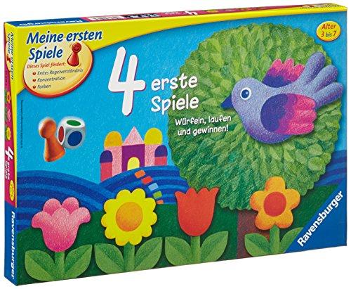 Ravensburger Kinderspiele 21417 - 4 erste Spiele 21417 - Spiel für Kinder ab 3 Jahren