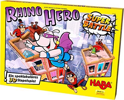Haba - Rhino Hero - spannendes 3D-Stapelspiel für Kinder