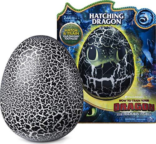 Dreamworks Dragons 6046183 Dragons Ohnezahn Babydrachen Ei, Hatching Dragon, Ohnezahn zum Ausbrüten,...