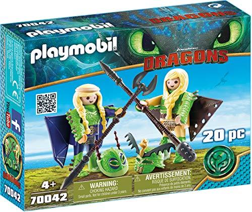 Playmobil 70042 Dragons Raffnuss und Taffnuss mit Fluganzug, bunt