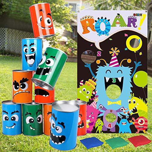 Tacobear Monsters Wurfspiele Dosenwerfen Werfen Spiel Sitzsäck Halloween Wurfspiel Gartenspiele Kinder...