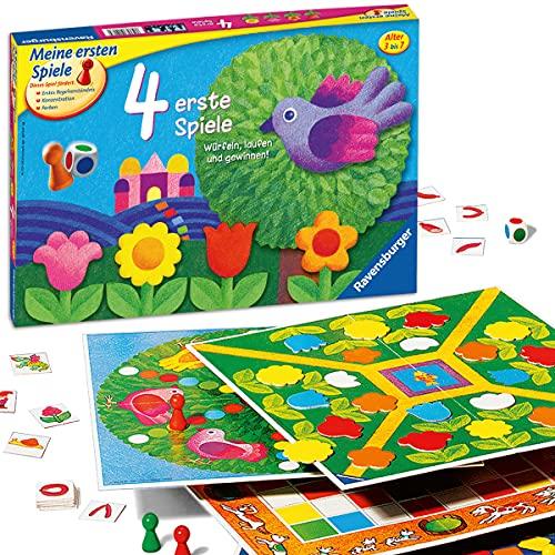 Ravensburger 21417 - 4 erste Spiele - Spielesammlung für die Kleinen - Spiele für Kinder ab 3 Jahren,...