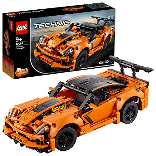 LEGO 42093 Technic Chevrolet Corvette ZR1 Rennwagen oder Hot Road, 2-in-1 Modellauto,...