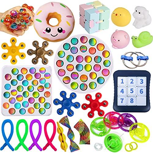 Gmajtars Fidget Sensory Toys Set Sensorische Fidget Spielzeug-Satz Einfaches Grübchen Push Pop für...