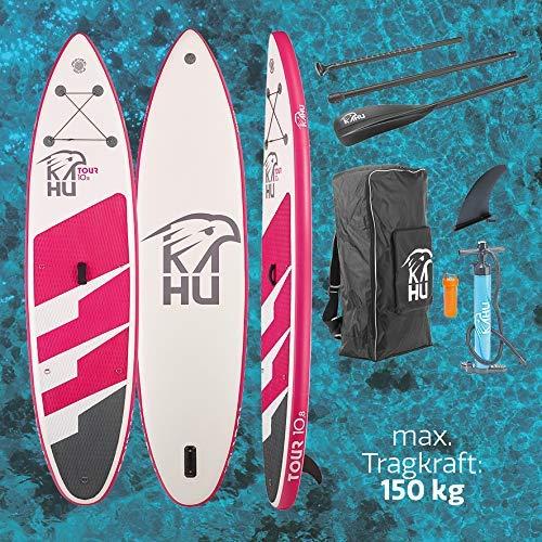 KAHU® Tour 10'8'' Stand up Paddling Board – aufblasbares iSUP Board komplett Set inkl....
