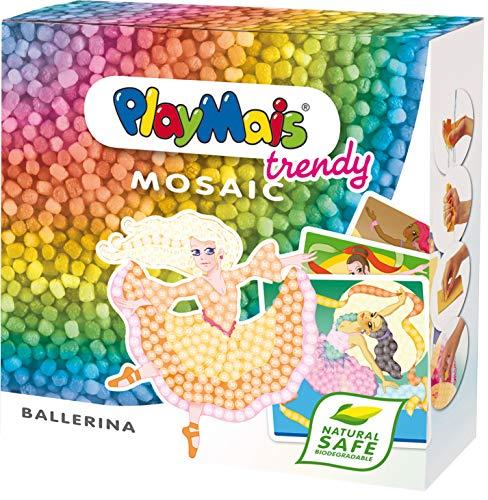 PlayMais TRENDY Mosaic Ballerina Kreativ-Set zum Basteln für Kinder ab 8 Jahren | Über 3.000 Stück & 6...