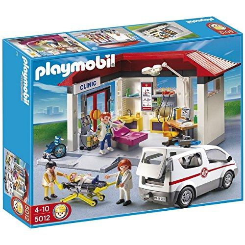 Playmobil 43729942 Ambulanz mit Notarzt-PKW FH Spielfiguren Set, Mehrfarbig