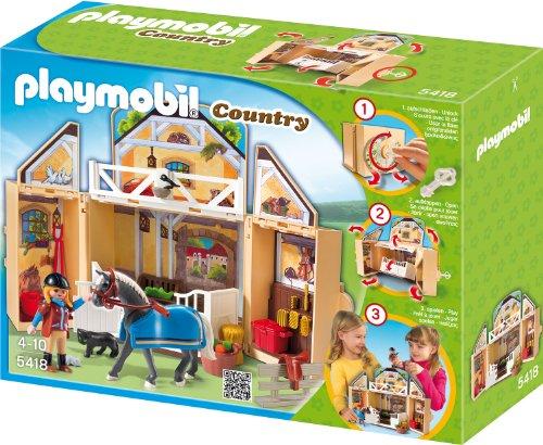Playmobil 5418 - Reitstall, Aufklapp-Spiel-Box