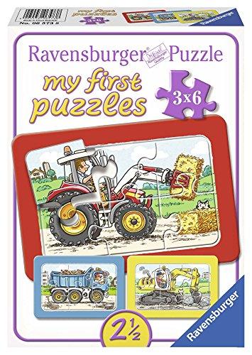 Ravensburger Puzzle Kinder Bagger, Traktor Und Kipplader, Rahmenpuzzle, My First Puzzles Für Kinder Ab...