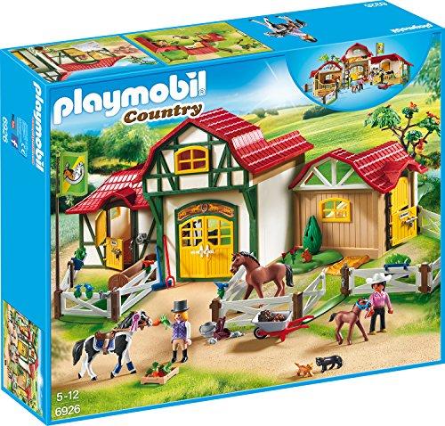PLAYMOBIL Country 6926 Großer Reiterhof mit Tinker, Trakehner und Fohlen, Ab 5 Jahren