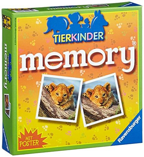 Ravensburger 21275 - Tierkinder Memory, der Spieleklassiker für Tierfans, Merkspiel für 2-8 Spieler ab...