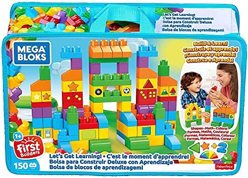 Mattel Mega Bloks FVJ49 Bausteintasche, 150 Teile, Bunt
