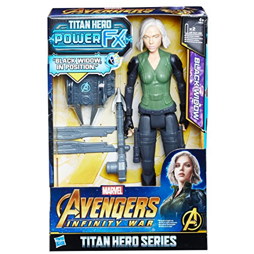 Hasbro Avengers E0614EW0 Titan Hero Power FX Black Widow mit Pack, Actionfigur