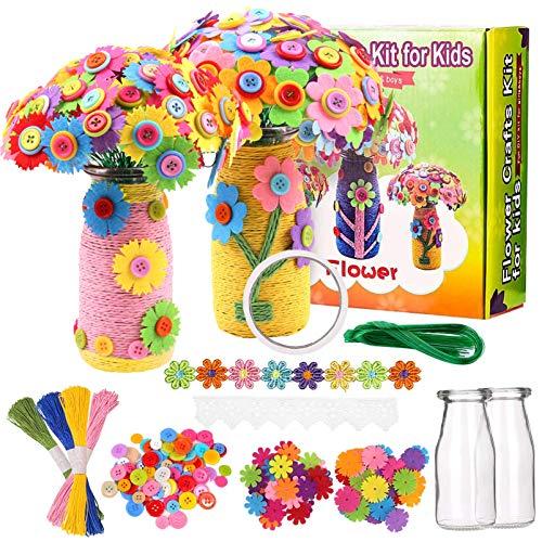 Blumen Bastelset für Kinder,Bastelset Kinder Craft Kit,bastelset kinder blumen,Bastelset Filzblumen...