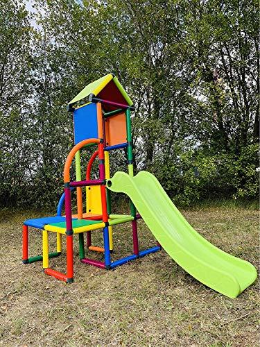 move and stic Toni Spielturm / Spielhaus Kletterturm mit Rutsche für Kleinkinder für Kinderzimmer oder...
