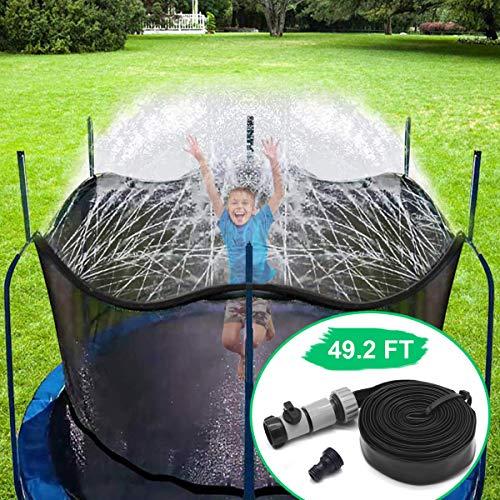 CT Trampolin Sprinkler Spielzeug für Kinder Trampolin Spray Wasserpark Spaß Sommer Outdoor Wasserspiel...
