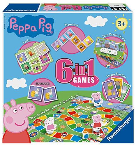 Ravensburger Peppa Wutz, 6-in-1-Spielset für Kinder und Familien, ab 3 Jahren, inkl. 6 klassischen...