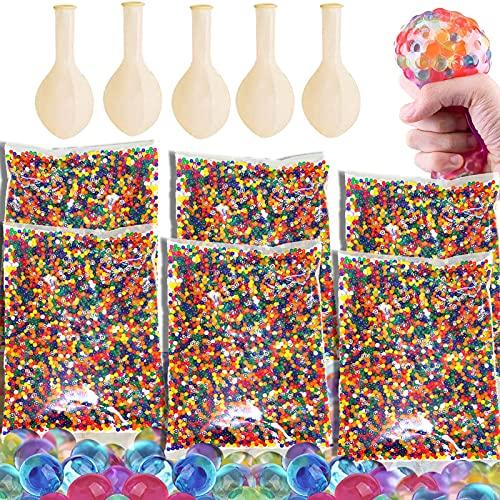 BOYATONG 60.000 Stücke Wasserperlen,Wasserperlen für Kinder,Orbeez Perlen,Gelkugeln Wasserperlen Mit 5...