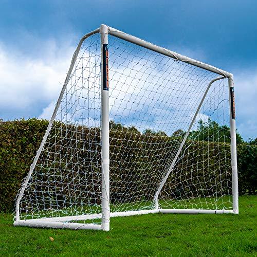 Football Flick Unisex, Jugendliche Urban Goal-8x6 Fußballtor, weiß, 8x6