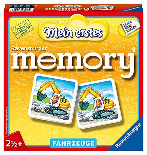 Ravensburger 21437 - Mein erstes memory Fahrzeuge, der Spieleklassiker für die Kleinen, Kinderspiel für...
