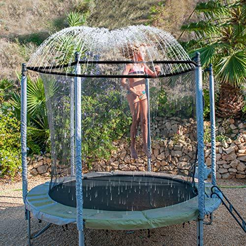INMUA Trampolin Sprinkler, Outdoor Trampolin Wasserpark Sprinkler, Summer Water Fun Sprayer für Jungen...