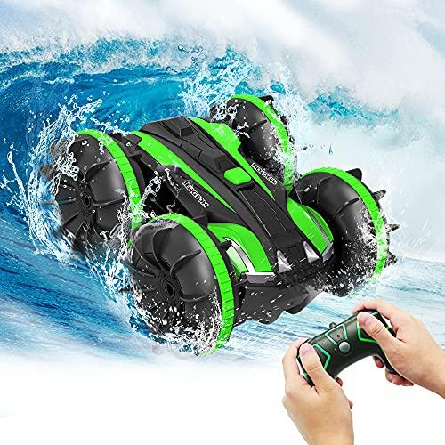 Spielzeug für 5-13 Jahre alte Jungen Amphibien RC Auto für Kinder 2,4GHz Fernbedienung 360 °Drehung...