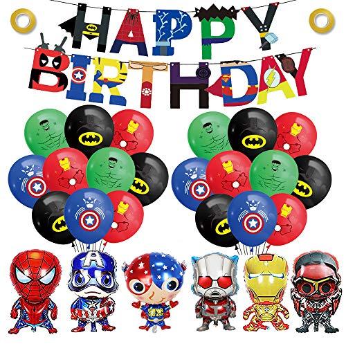 smileh Superhelden Geburtstag Deko Superheld Luftballons Avengers Alles Gute Zum Geburtstag Girlande...