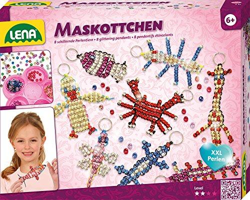 Lena 42690 Bastelset für 8 Maskottchen, Komplettset für 8 Glücksbringer/Schlüsselanhänger mit 740...