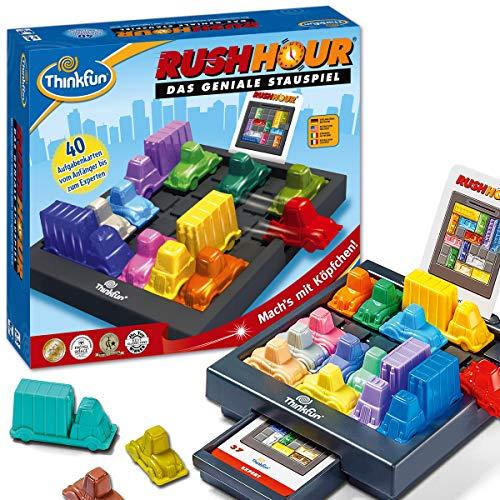 ThinkFun Rush Hour, Logik- und Strategiespiel, für Kinder und Erwachsene, Brettspiel ab 1 Spieler, ab 8...