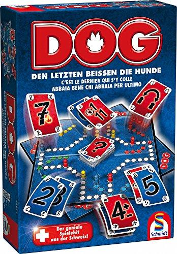 Schmidt Spiele 49201 Dog, Den letzten beissen die Hunde, Familienspiel, bunt
