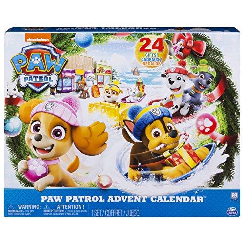 PAW PATROL 6045038 - Adventskalender 2018 - 24 Überraschungen - hochwertige Kunsstoff Figuren und...