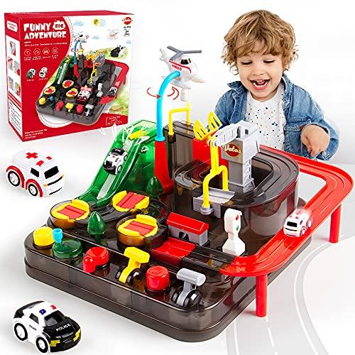 VATOS Track Cars Spielzeug für Kinder Jungen Mädchen Auto Spielzeug ab 3 4 5 6 7 8 Jahre Spielzeug...